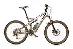Muddy mountain bike Stock Image