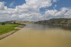 Muddy North Fork des Shoshone-Flusses Stockbild