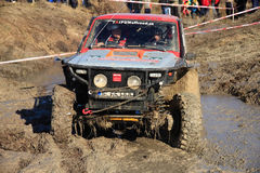 Muddy off-road. Off-Road Race in Shumen, conducted in December 2011 the picture one of the Romanian team, who visit for the first time this race Stock Photo