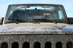 Muddy Offroader. A muddy 4X4 vehicle after an off road adventure Stock Photo