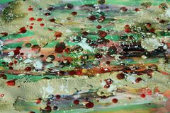 Muddy painting and wax, abstract background and texture Stock Images