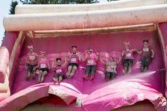 Muddy Race bonito para la vida Fotos de archivo libres de regalías