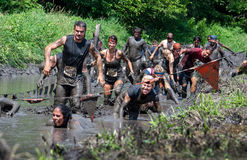 Muddy racers Stock Image