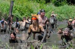 Muddy racers having fun Royalty Free Stock Images