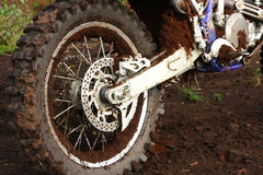 Free Muddy Rear Wheel Of Dirt Bike Royalty Free Stock Images - 6245289