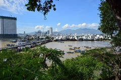 Muddy River Kai Town Nha Trang Vietnam royaltyfria bilder