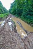Muddy road Stock Photos