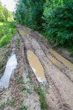 Muddy road Royalty Free Stock Photography