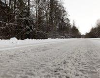Muddy road, winter Stock Photos
