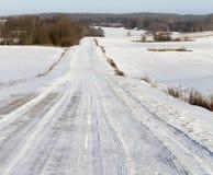 Muddy road, winter Royalty Free Stock Photo