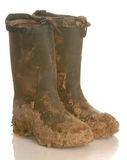 Muddy Rubber Boots Stock Photography