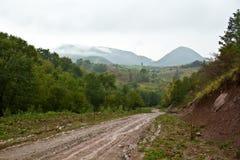 Muddy rural road Royalty Free Stock Photo