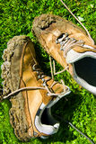 Muddy walking shoes Royalty Free Stock Images