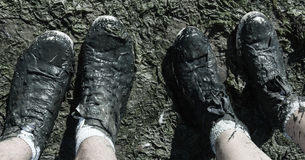 Free Muddy Shoes Stock Photography - 44227922