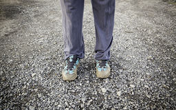 Muddy shoes Royalty Free Stock Image