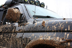 Muddy Sport Utility Vehicle. Stock Images