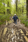 Muddy spring walk Royalty Free Stock Images