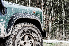 Muddy terrain vehicle Stock Image