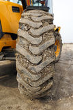A muddy tire. Close up Royalty Free Stock Images