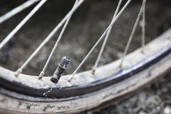 Muddy tire a mountain bicycle Royalty Free Stock Photos