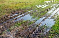 Muddy track Stock Photo