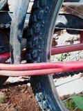 Muddy tyre. Cycle muddy Tyre Stock Photos