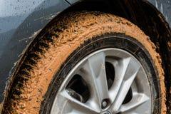 Muddy tyre Stock Photos