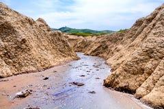Muddy Volcano Mud Flow Stock Image