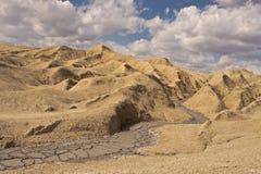 Muddy volcanoes Stock Image
