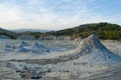 Muddy volcanoes Stock Images