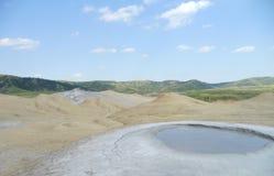 The muddy volcanoes in Buzau royalty free stock image