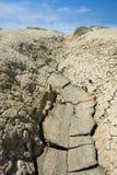Muddy Volcanoes, Buzau, Romênia Imagens de Stock