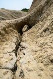Muddy Volcanoes, Buzau, Romênia Fotos de Stock Royalty Free