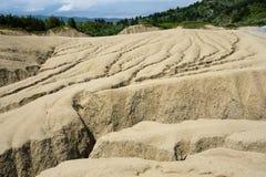 Muddy Volcanoes, Buzau, Romênia Fotos de Stock