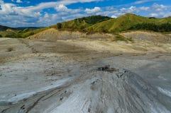 Muddy Volcanoes, Buzau, Rumänien Royaltyfria Bilder