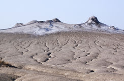 Muddy volcanoes - RAW format royalty free stock images