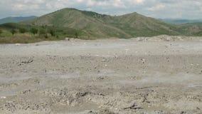 Muddy Volcanoes Reservation in Romania - Buzau - Berca stock footage