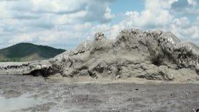 Muddy Volcanoes Reservation in Romania - Buzau - Berca stock video footage
