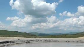 Muddy Volcanoes Reservation in Romania - Buzau - Berca stock video