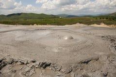 Muddy Volcanoes Reservation in Romania - Buzau - Berca Stock Image