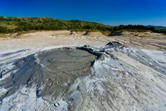 Muddy Volcanoes from Romania Stock Photography