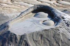 Muddy Volcanos close-up, Romania Buzau royalty free stock photos