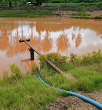 Muddy Water pwith ump Stock Photo