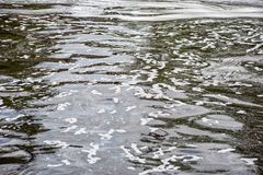 Free Muddy Water Surface With White Stains, Soft Focus Stock Photo - 161855430