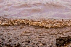 Muddy Water Waves of Panshet stock photography