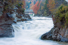 Muddy Waterfall on Autumn Mountain River Stock Image