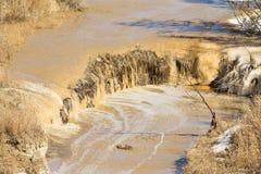 Muddy waterfall Stock Photos