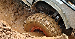 Muddy Wheel Royalty Free Stock Photos