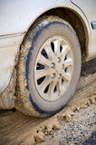 Muddy Wheel Royalty Free Stock Photo