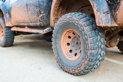 Muddy wheel Royalty Free Stock Image